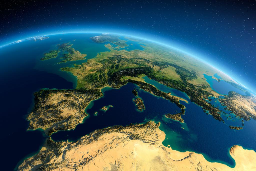 Carte Euro-Méditerranée